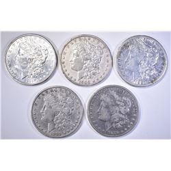 5-CIRC MORGAN DOLLARS: