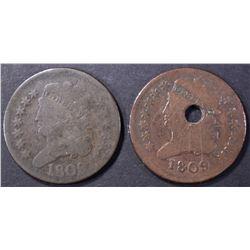 2-1809 HALF CENTS: