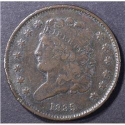 1835 HALF CENT, VF/XF