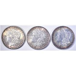 1881-O, 89 & 90 CH BU MORGAN DOLLARS