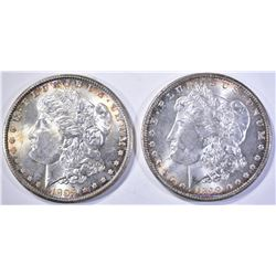 1898-O & 99-O CH BU MORGAN DOLLARS, BETTER DATES