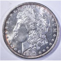 1887-O MORGAN DOLLAR, CH BU