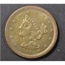 1851 HALF CENT CH BU