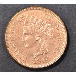 1865 FANCY 5 INDIAN CENT GEM BU RD