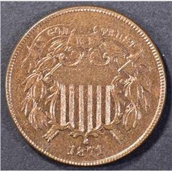 1871 2 CENT CH/GEM UNC