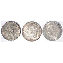 1885-O, 90 MORGAN DOLLARS & 1923-S