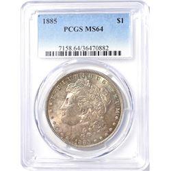 1885 MORGAN DOLLAR  PCGS  MS-64
