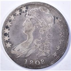 1808 CAPPED BUST HALF DOLLAR  FINE