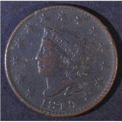 1819/8 MATRON HEAD LARGE CENT VF/XF