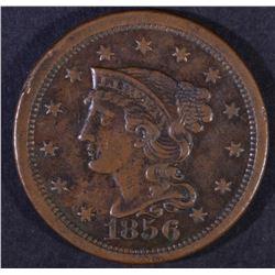 1854 BRAIDED HAIR LARGE CENT AU