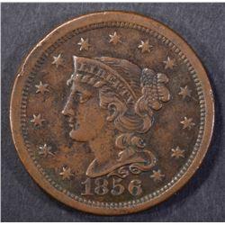 1856 BRAIDED HAIR LARGE CENT AU