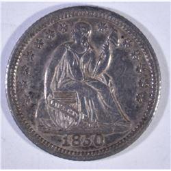 1850 LIBERTY SEATED HALF DIME AU