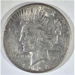 1928-S PEACE DOLLAR AU +