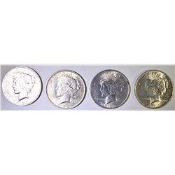 (4) PEACE DOLLARS: 3-1922 & 1923