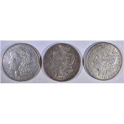 1921-P,D,S MORGAN DOLLARS AU BU