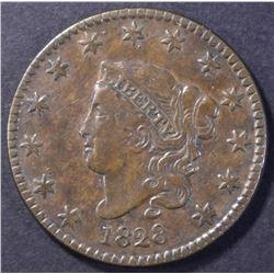 1828 LARGE DATE LARGE CENT, XF/AU