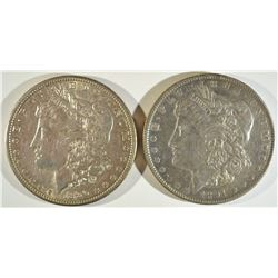 1890-S & 1891 MORGAN DOLLARS AU/BU