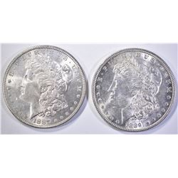 1887 & 1889 CH BU+ MORGAN DOLLARS