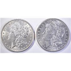 1900 & 1900-O BETTER DATE CH BU MORGAN DOLLARS