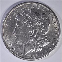 1894-O MORGAN DOLLAR  AU/BU  MARK OBV.