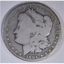1884-CC MORGAN DOLLAR  AG
