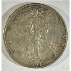 1934-S WALKING LIBERTY AU