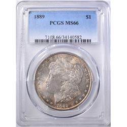 1889 MORGAN DOLLAR PCGS MS-66