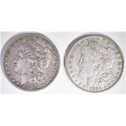 1886-O & 91 XF+ MORGAN DOLLARS