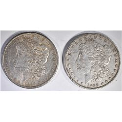 1889 & 90-O AU MORGAN DOLLARS