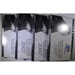 4-2007 SILVER STATE QUARTER PROOF SETS