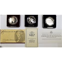 MODERN PROOF COMMEM SILVER DOLLAR L;OT: