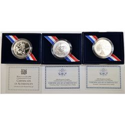 MODERN UNC COMMEM SILVER DOLLAR LOT: