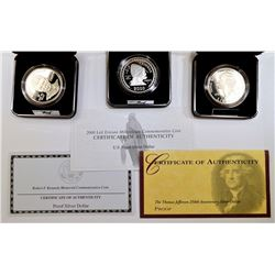 MODERN PROOF COMMEM  SILVER DOLLAR LOT;