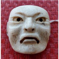 Rare Olmec White Human Maskette