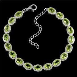NATURAL AAA GREEN PERIDOT 58 Cts  Bracelet