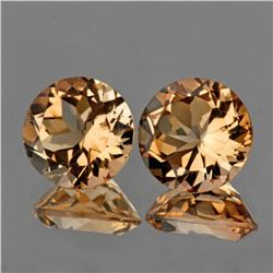 Natural  Champagne Imperial Topaz Pair 9.00 MM - FL