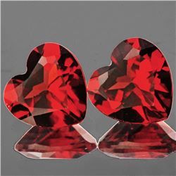 Natural Mozambique Garnet Heart Pair 8.00 MM - VVS