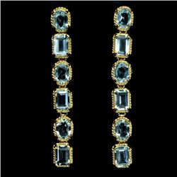 Natural 7x5 mm Topaz 49.98 Cts Earrings