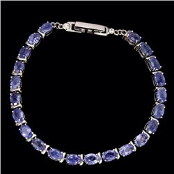 Natural Top Rich Blue Violet Tanzanite 64 Cts Bracelet