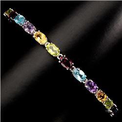 Natural Amethyst Citrine Peridot Garnet Topaz Bracelet