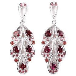 NATURAL AAA PURPLISH PINK RHODOLITE Earrings
