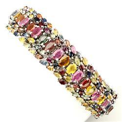 Natural 6x4 mm Fancy Sapphire Ruby 239 Ct Bracelet