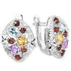 Natural Multi Gemstone EarRing