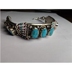 Tibet Hand Made Turquoise Bracelet