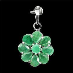 Natural Columbian Emerald Pendant