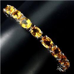 Natural Top Rich Yellow Citrine 93.15 ct Bracelet