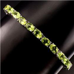Natural Top Rich Green Peridot 69 Carats Bracelet
