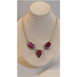 IMPRESSIVE 22 CT RUBY NECKLACE.