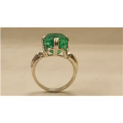 BEAUTIFUL 10.52 CT CERTIFIED NATURAL EMERALD RING