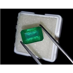 Natural Forest Green  Emerald 7.48 Cts - Certified